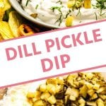 Pinterest Image for Dill Pickle Dip