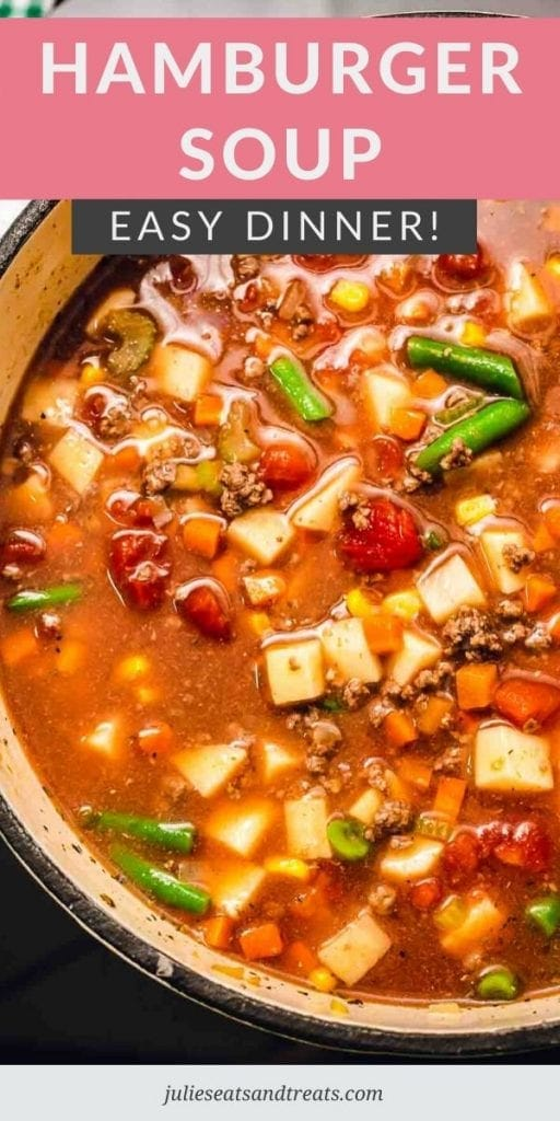 hamburger soup in a pot