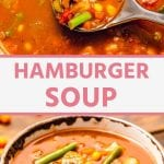 Pinterest Image Hamburger Soup