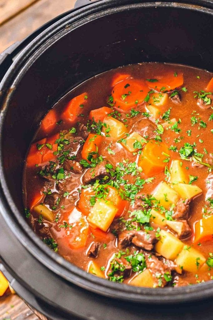 Instant Pot with beef stew