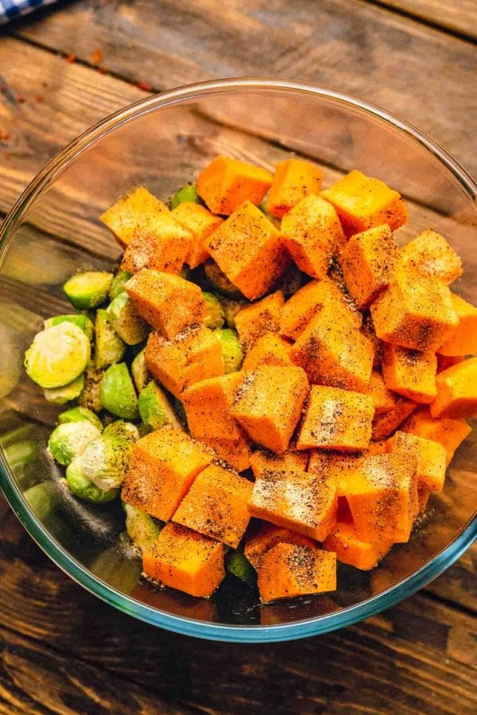 Brussel Sprouts and sweet potatoes