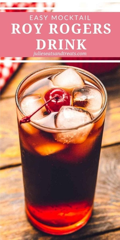 Roy rogers in a glass with ice and a cherry