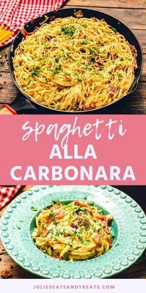 Spaghetti alla Carbonara pinterest image