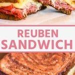 Pinterest Image for Reuben Sandwich