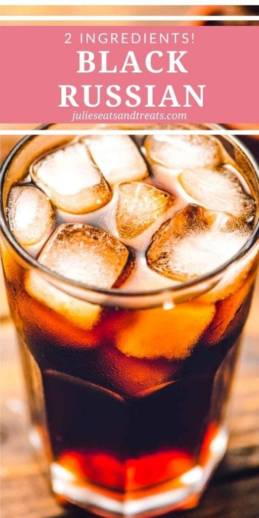 Black Russian and ice in a glass