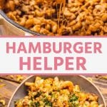 Pinterest Image of Hamburger Helper