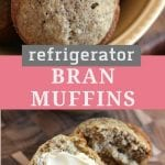 Pin Collage for Refrigerator Bran Muffins