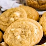 Pinterest Image for White Chocolate Macadamia Nut Cookies