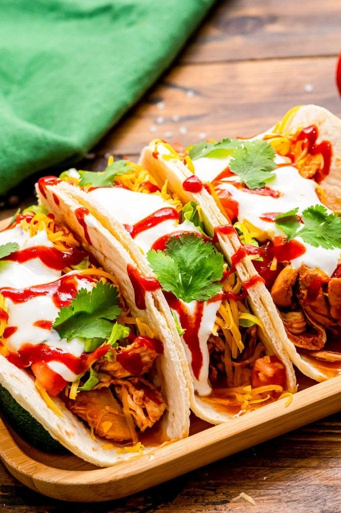 Instant Pot Chicken Tacos Shredded Chicken Julie S Eats Treats