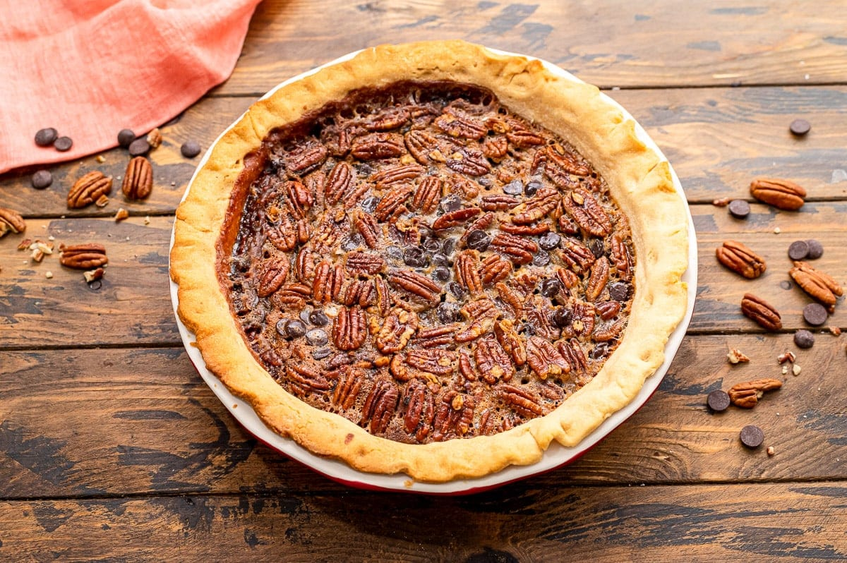 Whole Baked Chocolate Pecan Pie