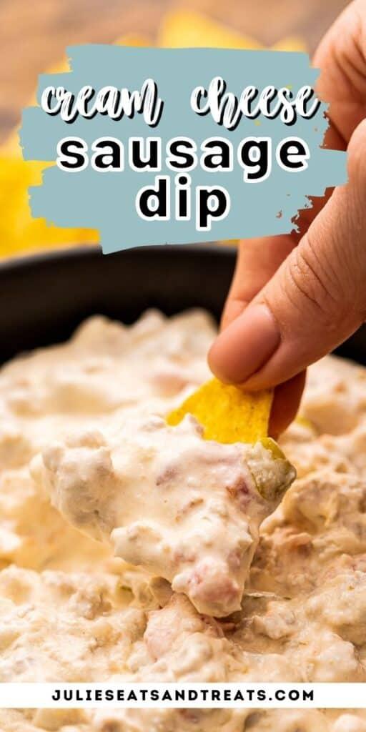 sausage dip Pinterest Image
