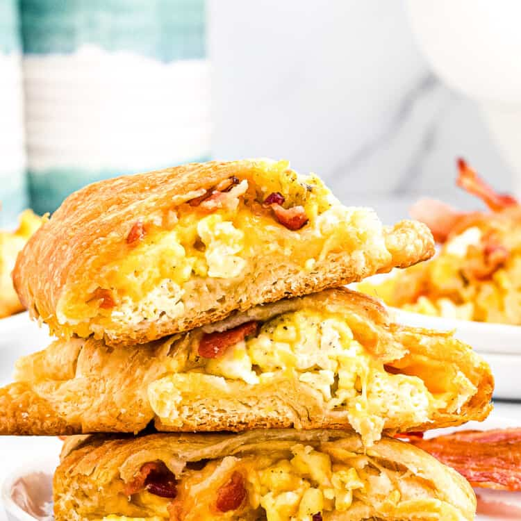 Stack of three pieces of Breakfast Crescent Ring.