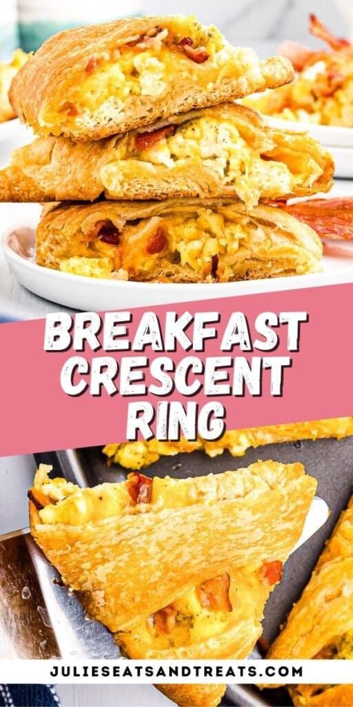 Breakfast Crescent Ring Recipe Pinterest Image