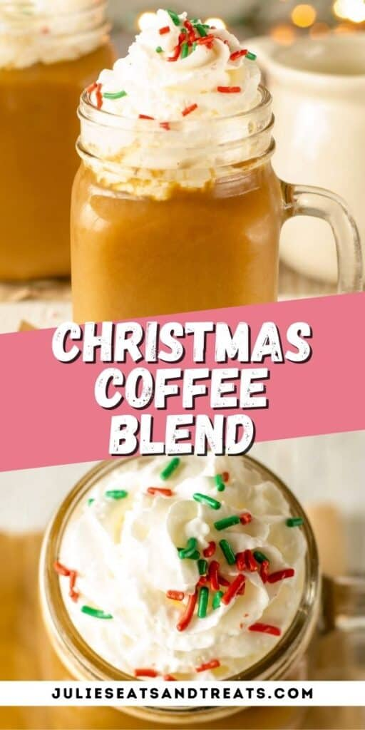 Christmas Blend Coffee Pinterest Collage Image