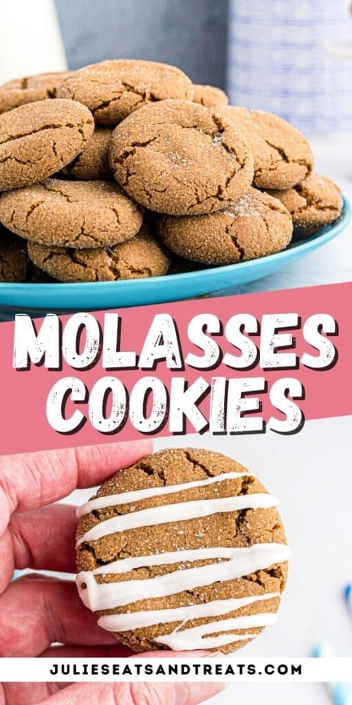 Molasses Cookies Pinterest Collage Image
