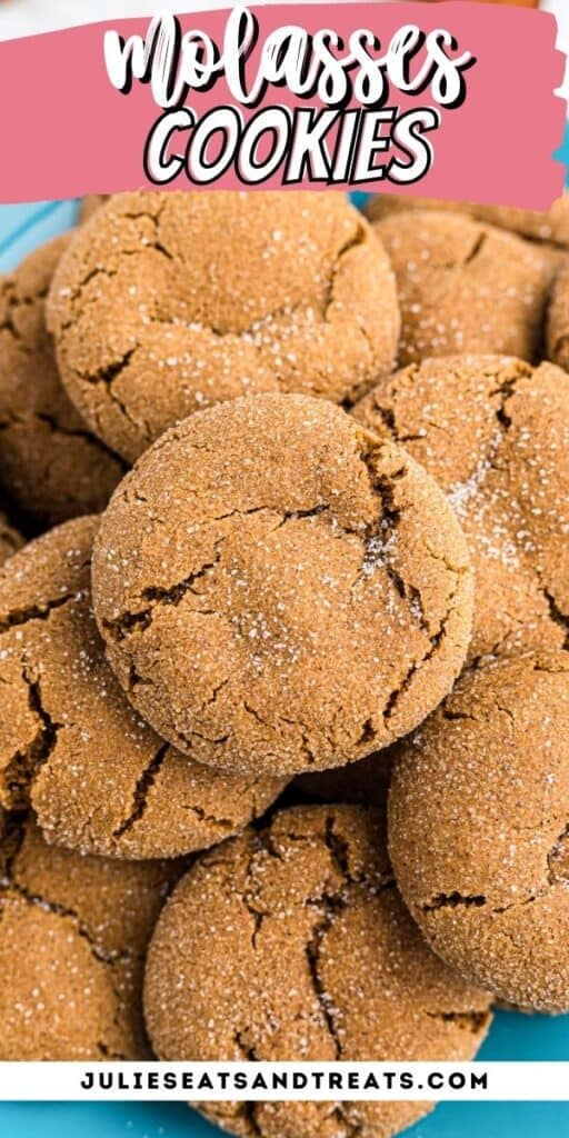 Molasses Cookies Pinterest Image