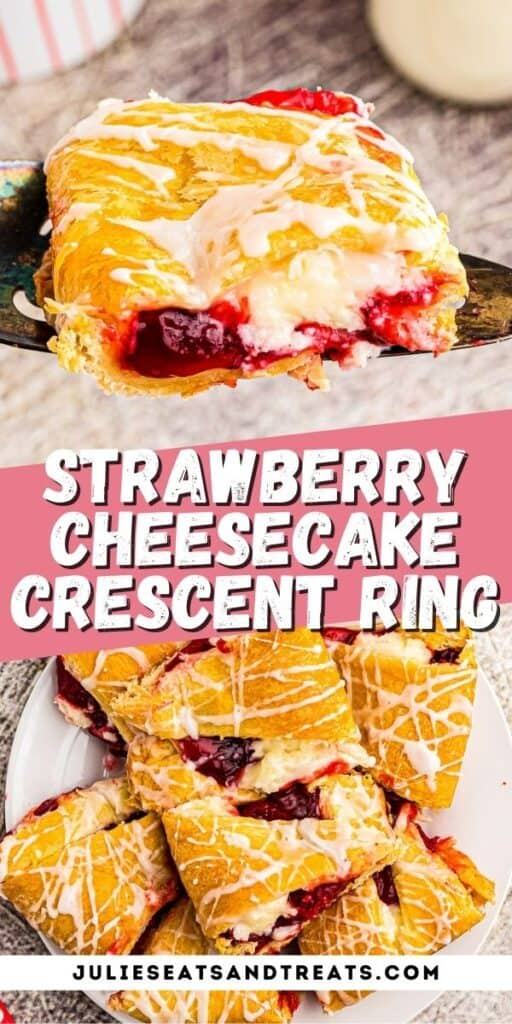 Strawberry Cheesecake Crescent Ring Pinterest Image