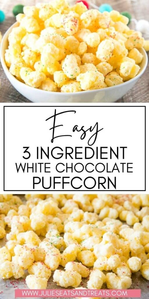White Chocolate Puffcorn Collage JET Pinterest