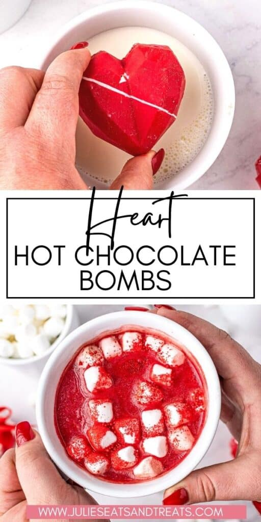 Heart Hot Chocolate Bombs JET Pin Image