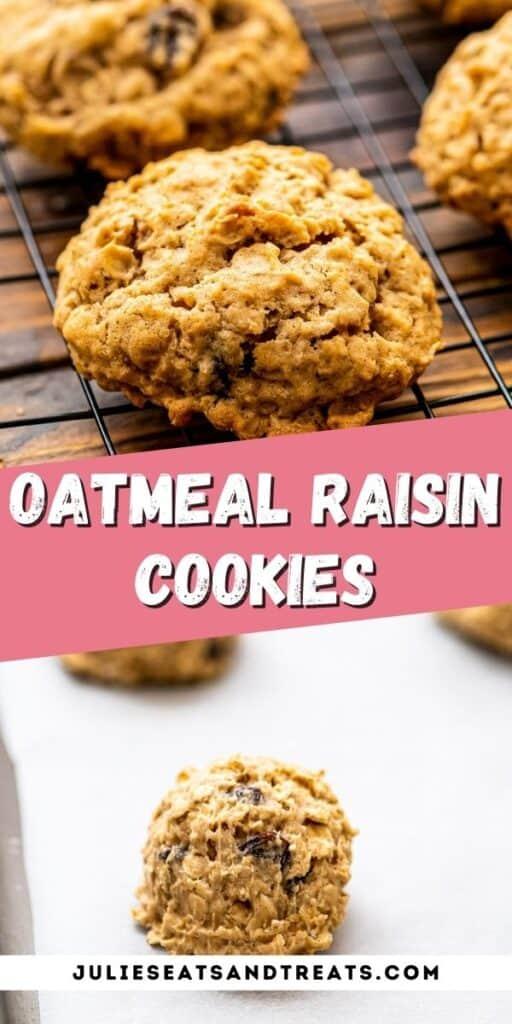 Oatmeal Raisin Cookies Recipe Pinterest Image