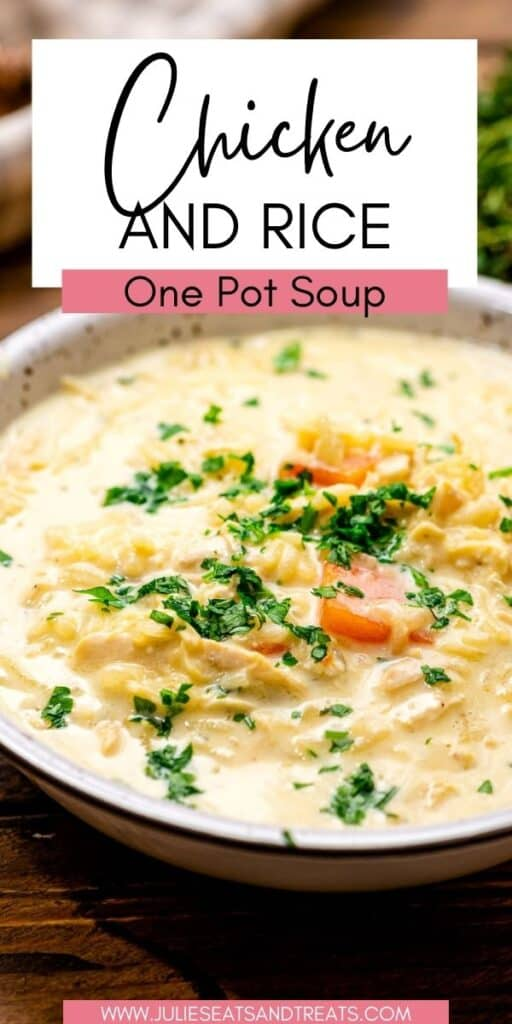 Chicken and Rice Soup JET Pinterest Image