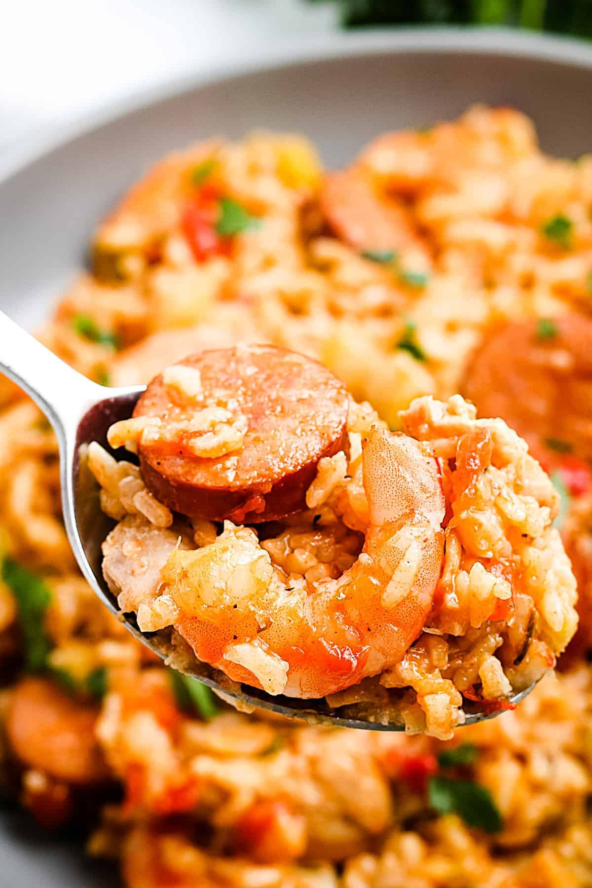 Spoonful of Instant Pot Jambalaya