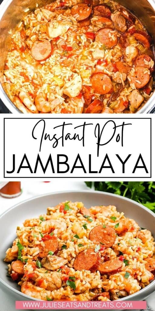 Instant Pot Jambalaya JET Pinterest Image
