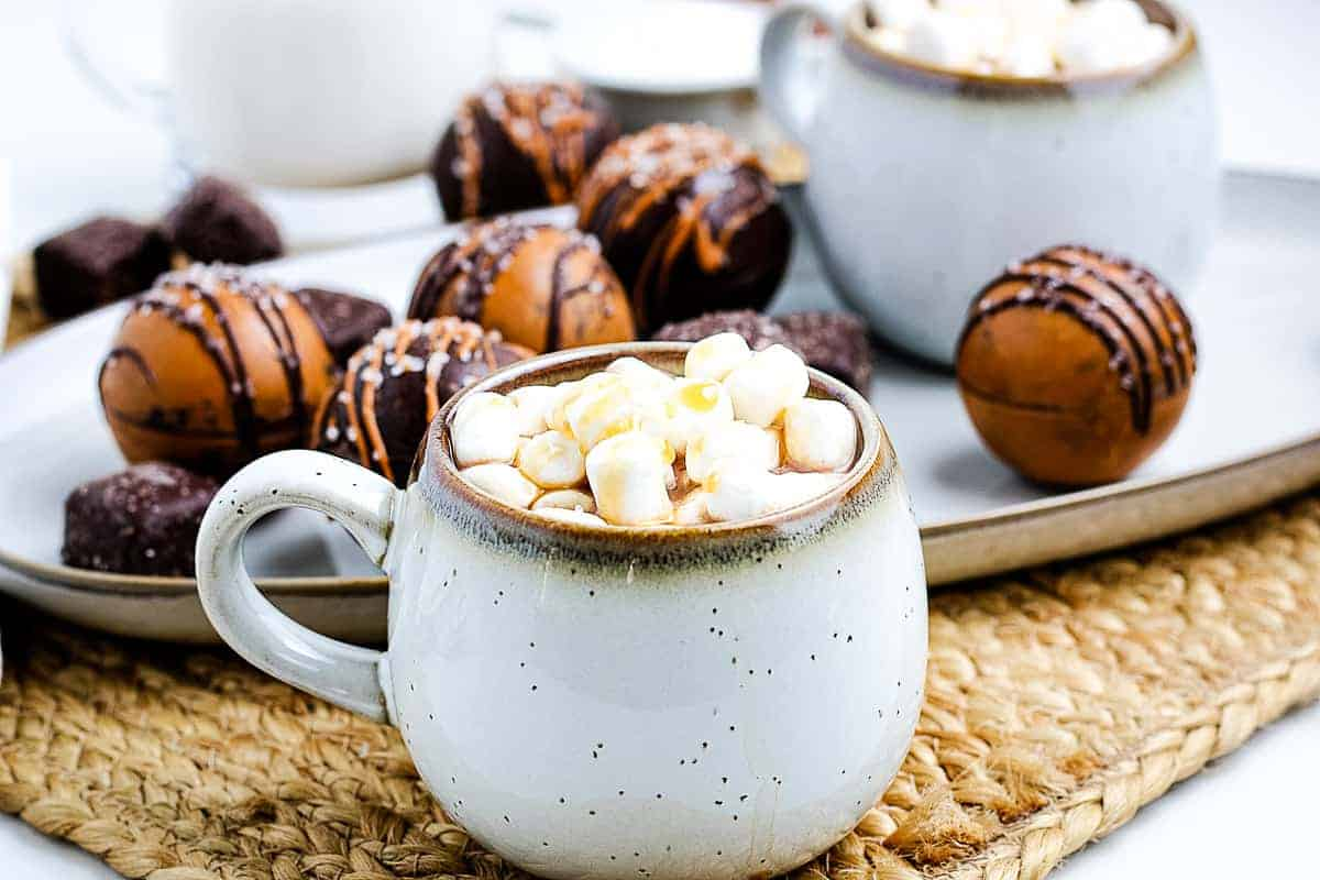 Salted Caramel Hot Chocolate in mug