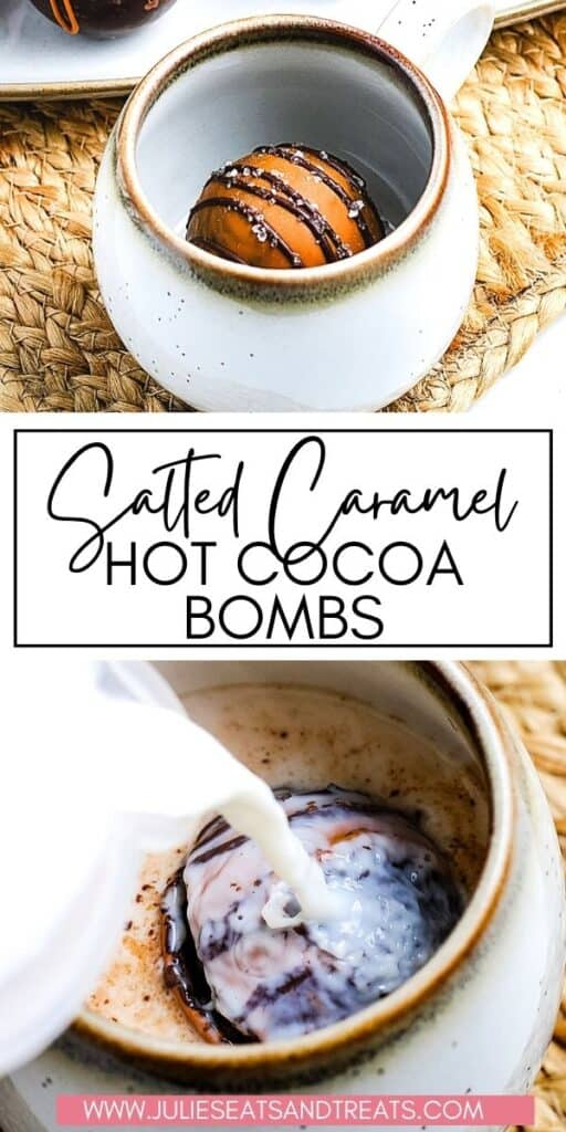 Salted Caramel Hot Cocoa Bombs JET Pinterest Image