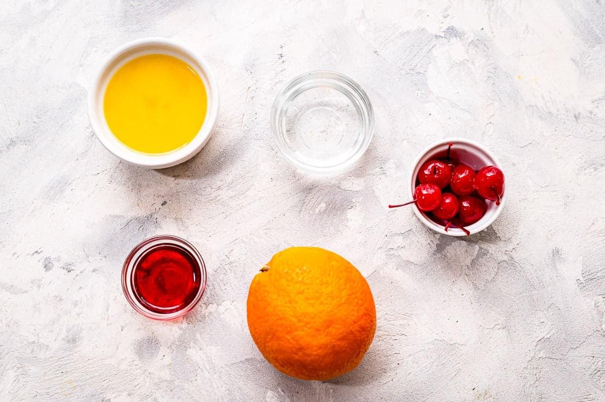 Overhead image of Tequila-Sunrise-Ingredients