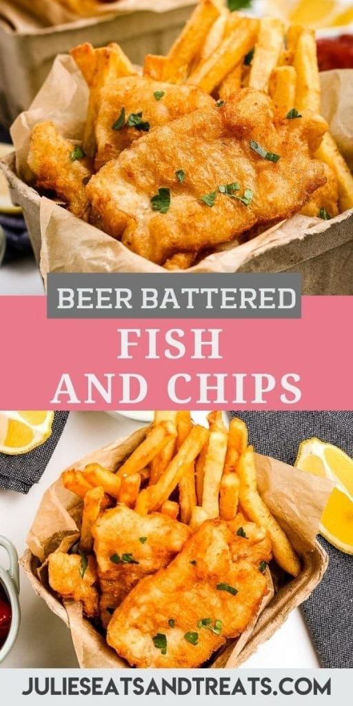 fish and chips pin collage