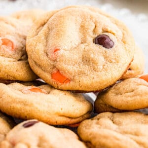 Close up image of Reese's Pieces Peanut Butter Cookies