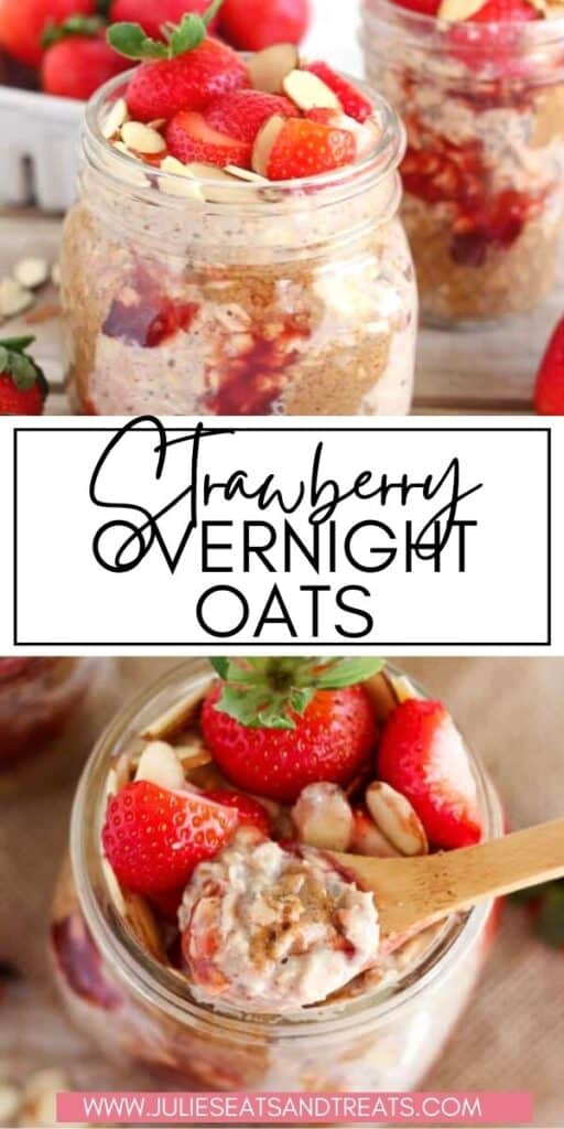 Strawberry Overnight Oats JET Pinterest Image