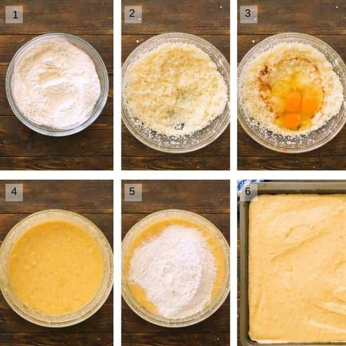 banana bars recipe steps to prepare collage