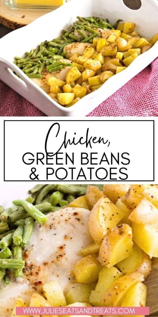 Chicken Green Beans and Potatoes JET Pinterest Image