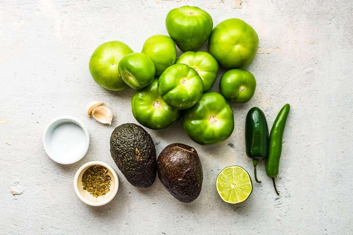Creamy Avocado Salsa Ingredients