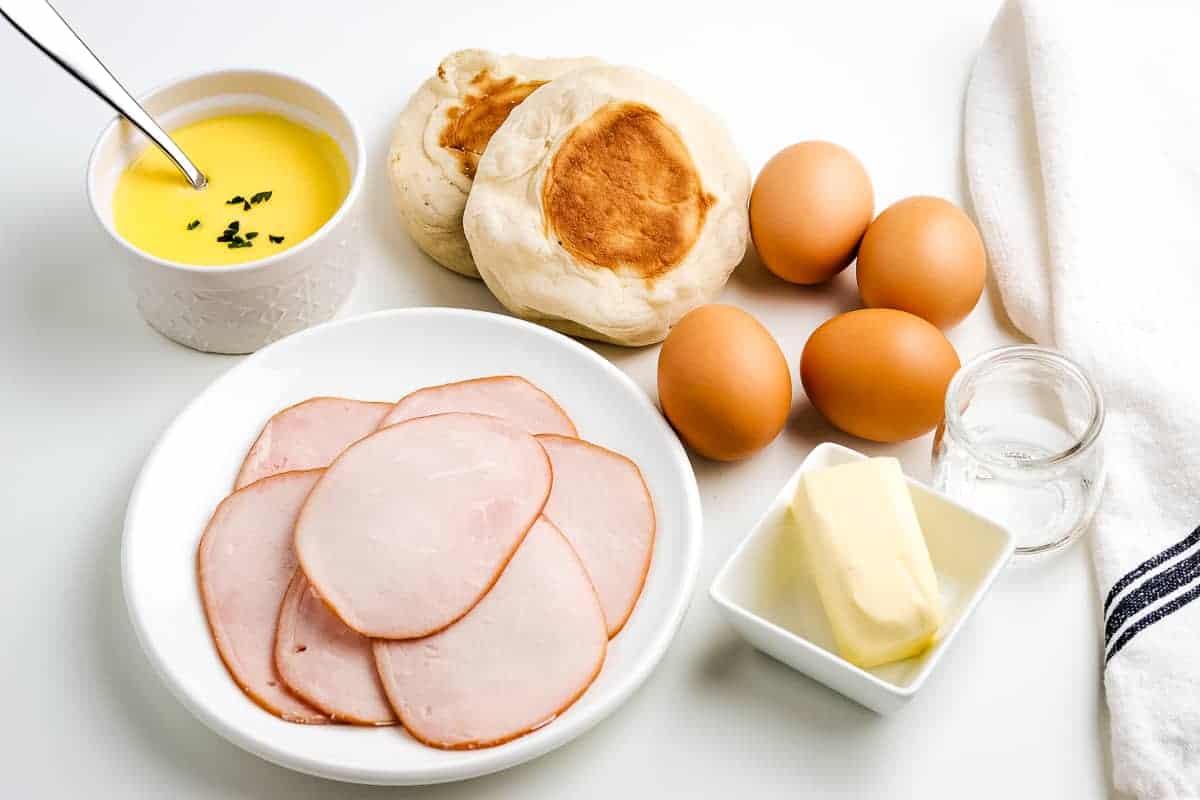 Ingredients for Eggs Benedict