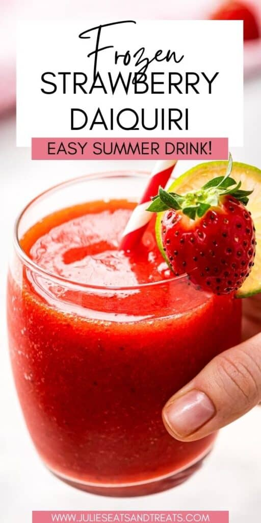 Frozen Strawberry Daiquiri JET Pinterest Image