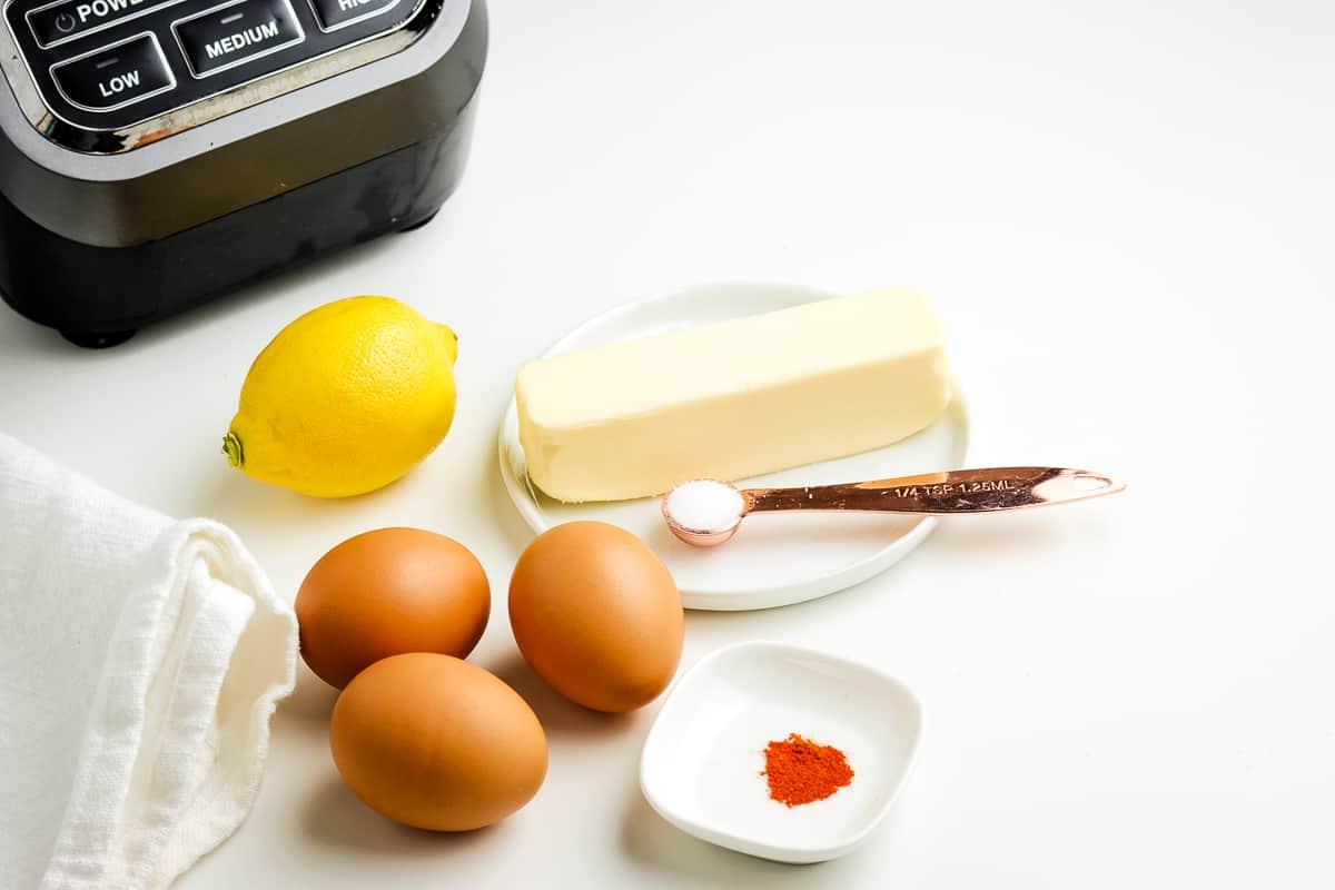 Photo of Hollandaise sauce ingredients