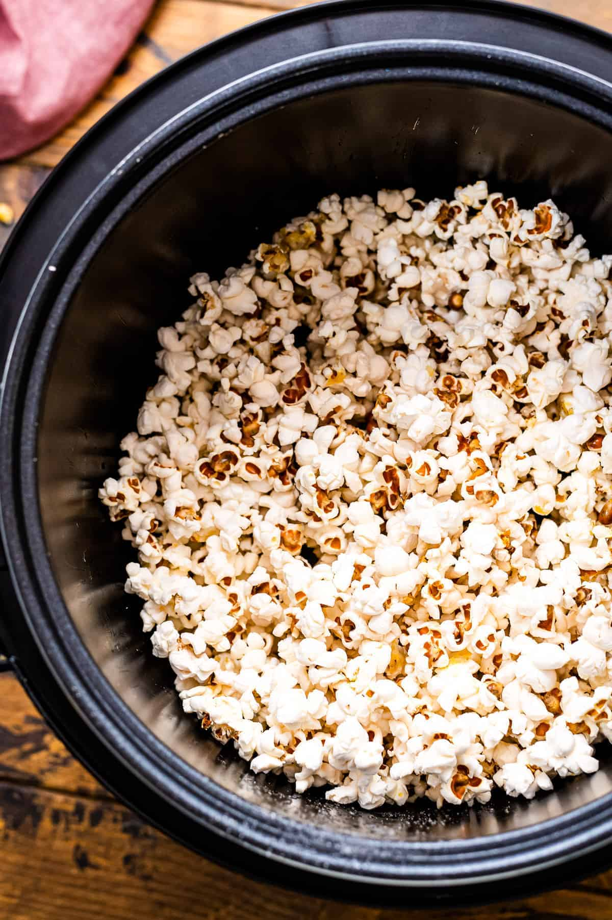 Popped popcorn in an Instant Pot