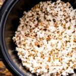 Instant Pot Popcorn in pressure cooker