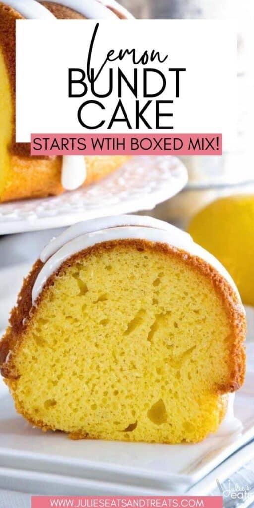 Lemon Bundt Cake JET Pinterest Image