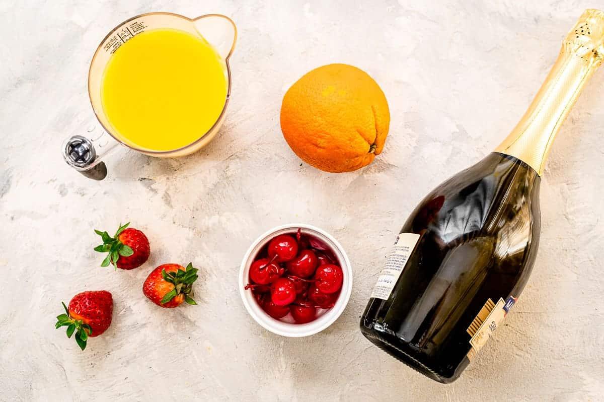 Overhead image of Mimosa Ingredients