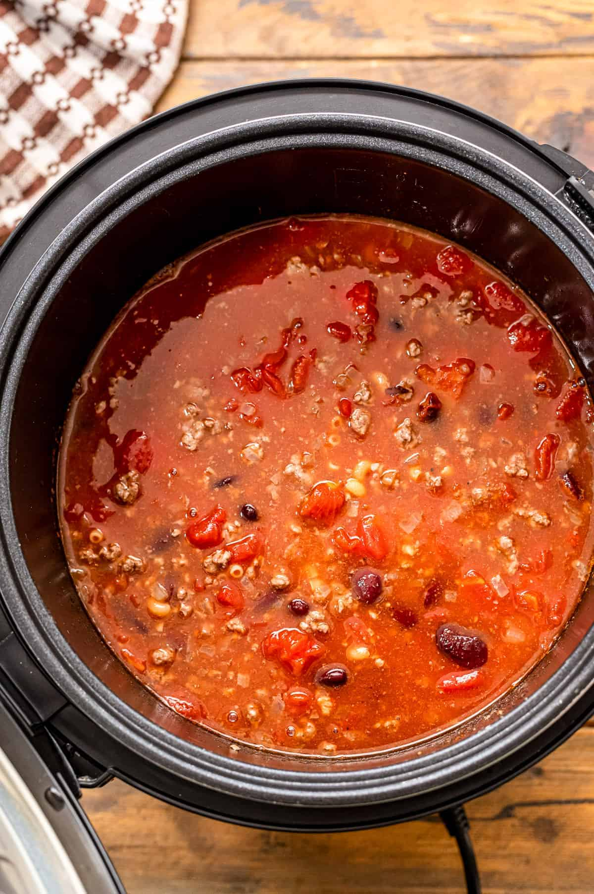 Ingredients for Chili Mac in Instant Pot