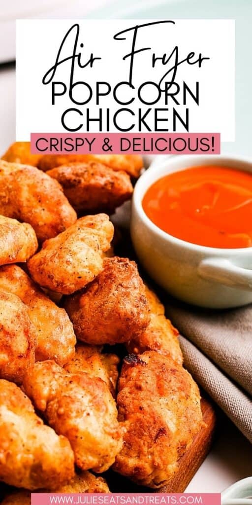 Air Fryer Popcorn Chicken JET Pinterest Image