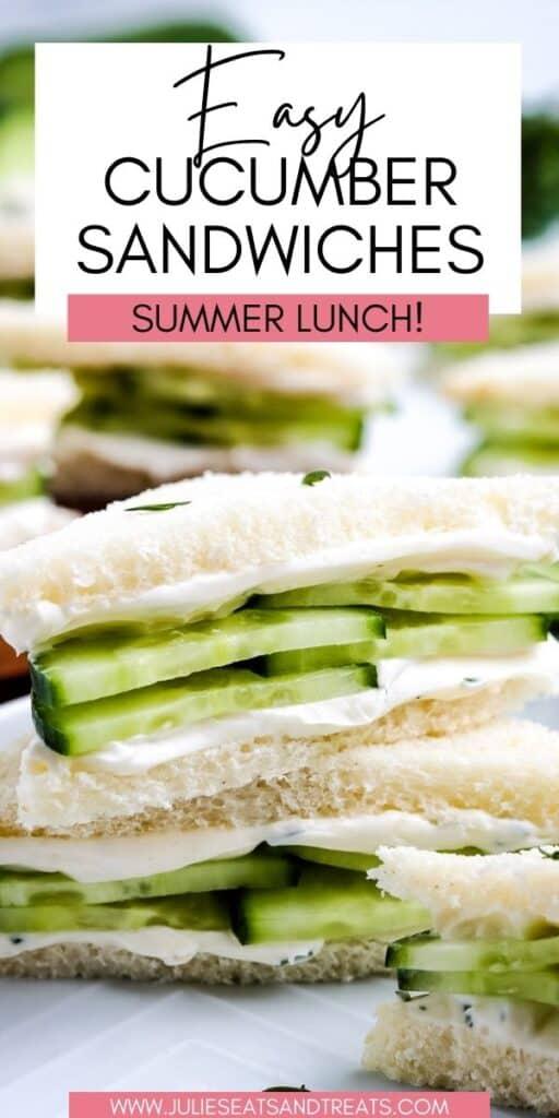 Cucumber Sandwiches JET Pinterest Image