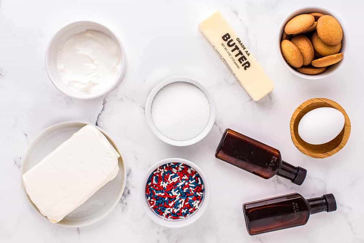 Patriotic Mini Cheesecakes Ingredients