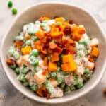 Pea Salad Recipe Square Cropped Image