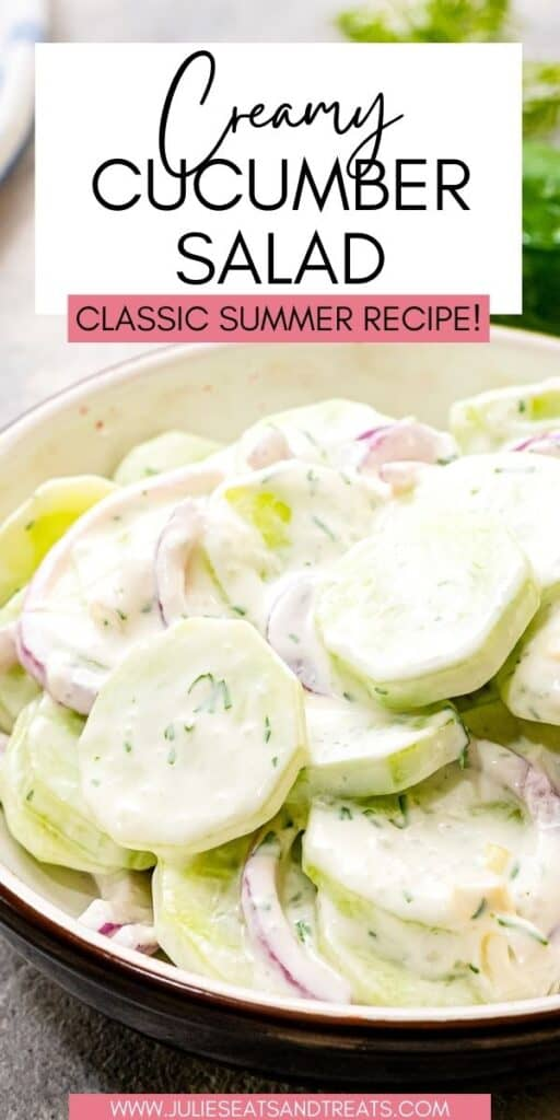 Creamy Cucumber Salad JET Pin Image