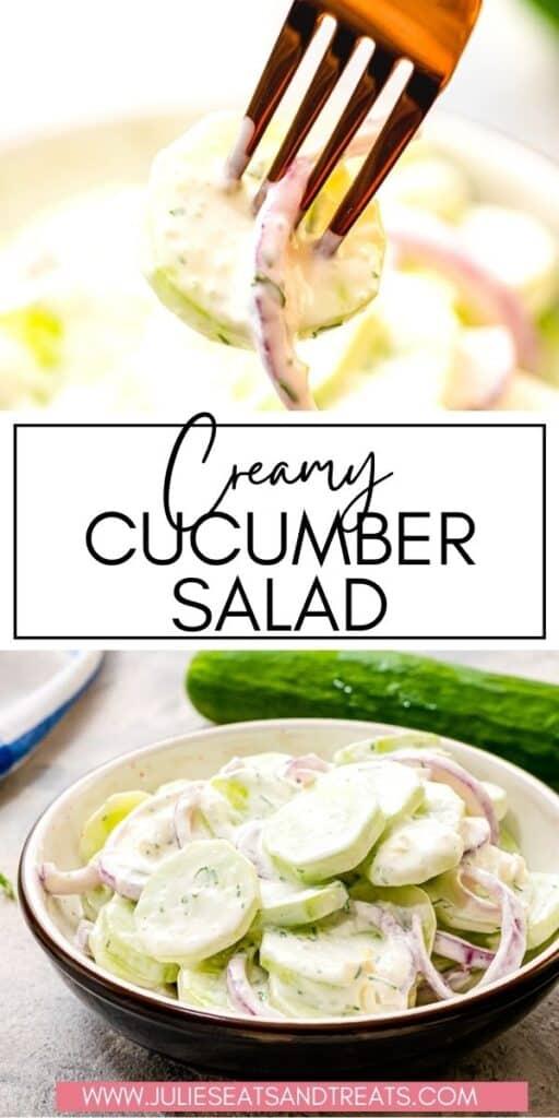 Creamy Cucumber Salad JET Pinterest Image